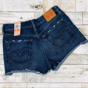 🆕 Levis 501 Cut Off Shorts Jean Frayed